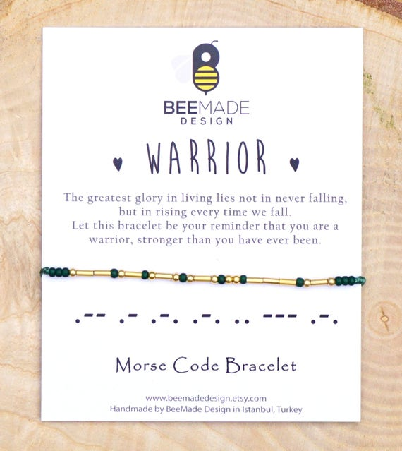 Warrior Morse code bracelet