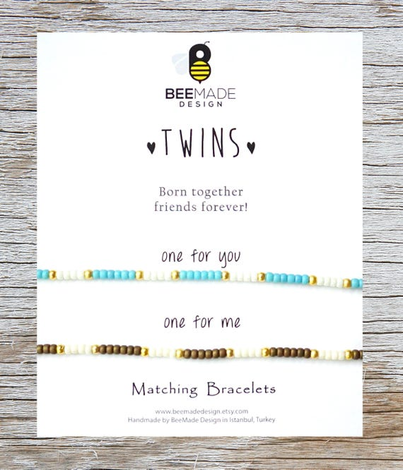 TWINS Christmas Gift For Twin Sister Bracelets 2 Birthday