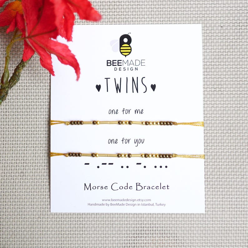 Unique Gifts For Twins Morse Code Bracelets Matching Bracelet