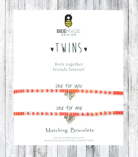 Twins Matching Bracelets Seed Bead For 2 Birthday