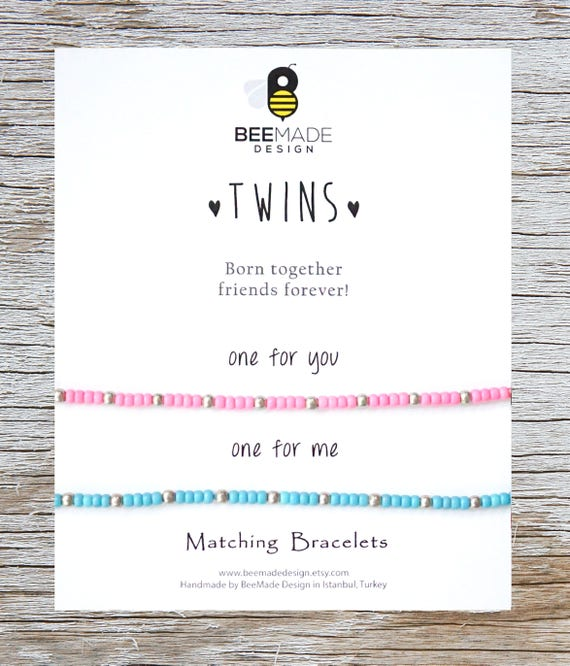 TWINS Valentines Gift For Twin Sister Twins Matching Bracelets