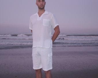 AGNI SHORTS - Men's Shorts - White Shorts