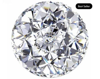 Loose Jubilee Cut Moissanite 1 to 6 Carat Loose   Round   Trek Quality #1 D-E Colorless  or G-H Near Colorless VVS Clarity  #8349