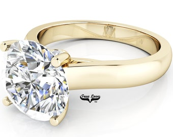 Moissanite Engagement Ring 14kt Yellow Gold #6960