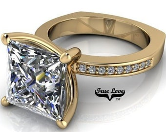 Princess Moissanite Engagement Ring  #7051