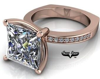 Moissanite Engagement Ring  #6971