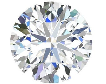 1 to 6 Carat Loose Moissanite Round Brilliant Cut Trek Quality #1 D-E Colorless  or G-H Near Colorless VVS Clarity list Sizes listed #8338