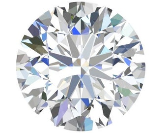 1 to 6 Carat  Moissanite Round Hearts and Arrows Cut Trek Quality #1 D-E Colorless VVS  or G-H Near Colorless VS Clarity as listed #8339A