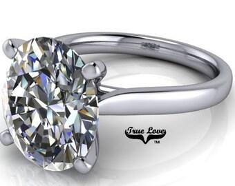 Lay away payment 5 of 6 for Deja Oval Moissanite 3 Carat  Trek Quality #1 VVS   D-E Colorless , 14kt White Gold #6790LA