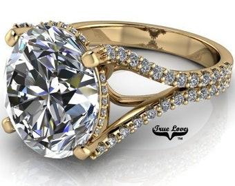 Moissanite Engagement  Ring #8368