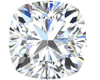 3,5,6,7,8or 9 Carat Loose Moissanite Cushion Cut Trek Quality #1 D-E Colorless or GH Near Colorless VVS Clarity Various Sizes listed #8341