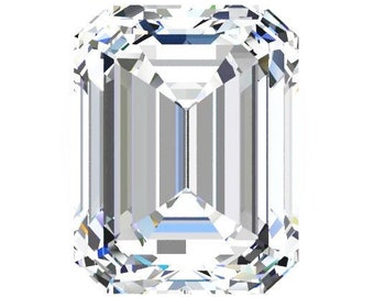 1 to 8 Carat Loose Moissanite Emerald Cut Trek Quality #1 D-E Colorless VVS  or G-H Near Colorless  VS Clarity list  #8344A