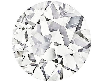 Loose Old European Cut Moissanite 1 to 6 Carat Loose   Round   Trek Quality #1 D-E Colorless  or G-H Near Colorless VVS Clarity  #8349