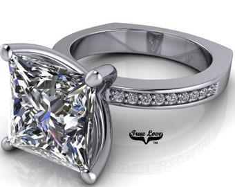 Moissanite Engagement Ring #7050