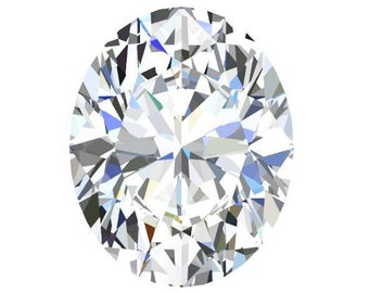 1,2,3, and 7 Carat Loose Moissanite Oval Cut Trek Quality #1 D-E Colorless  or G-H Near Colorless VVS Clarity list Sizes listed #8345