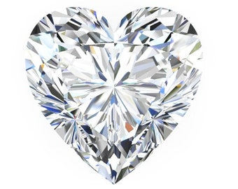 1,2 or3 Carat Loose  Moissanite Heart Shape Trek Quality #1 D-E Colorless  or G-H Near Colorless VVS Clarity Various Sizes as listed.#8337
