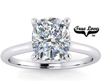Mined Diamond 1.51 Carat GIA Certified D Color VS1 Clarity Cushion cut. Platinum Engagement Ring,  #8430P