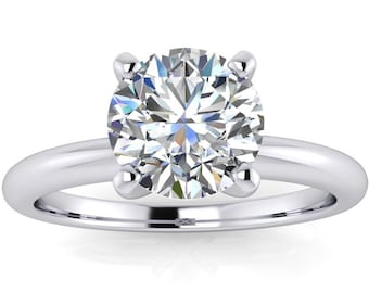 Diamond  Engagement Ring  14kt White Gold, 1.15 Carat  Color Grade I Clarity I1 Cut Grade Very Good .#8431W