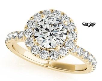 Moissanite Engagement Ring 14kt Yellow Gold #7173