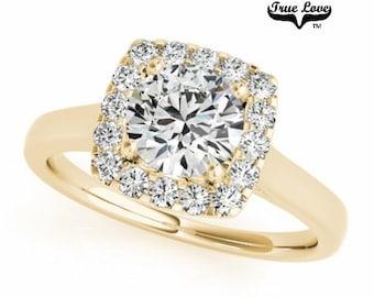 Moissanite Engagement Ring 14kt Yellow Gold #7212