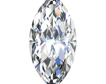 1,2,3, and 4 Carat Loose Moissanite Marquise Cut Trek Quality #1 D-E-F Colorless  or G-H Near Colorless VVS Clarity list Sizes listed #8346