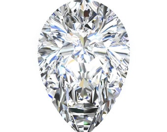 1,2 and 3 Carat Loose Moissanite Pear Shape Cut Trek Quality #1 D-E-F Colorless  or G-H Near Colorless VVS Clarity Various Sizes listed#8340
