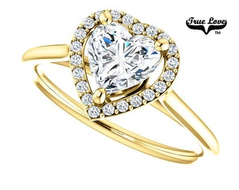 Moissanite Engagement Ring 14kt Yellow Gold #6814