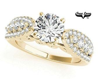 Moissanite Trek Quality #1 Engagement Ring 14kt Yellow Gold #7669