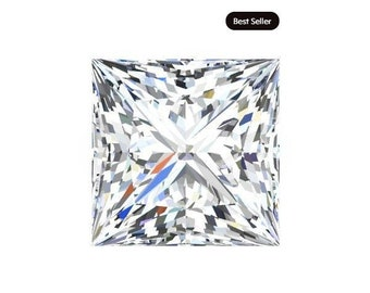 1 to 9 Carat Loose Moissanite Princess Cut Trek Quality #1 D-E Colorless  or G-H Near Colorless VS Clarity list Sizes listed #8343A