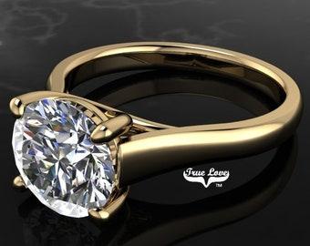 Moissanite Engagement Ring 14 kt Yellow Gold   #7016