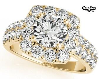 Moissanite Engagement Ring 14kt Yellow Gold #7164