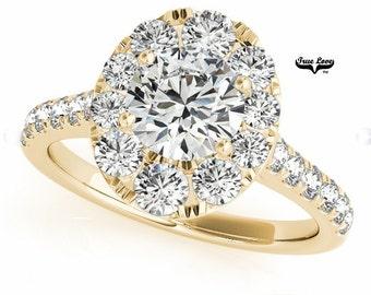 Trek Quality #1Moissanite Engagement Ring 14kt Yellow Gold, Wedding Ring, Oval Halo Engagement, Side moissanites  #7221