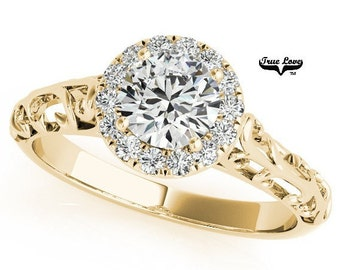 Moissanite Engagement Ring( Discontinued)   14kt Yellow Gold #6871
