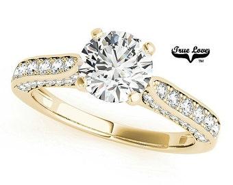 Moissanite Engagement Ring 14kt Yellow Gold #7431