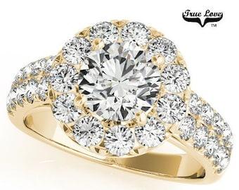 Moissanite Engagement Ring 14kt Yellow Gold #6856