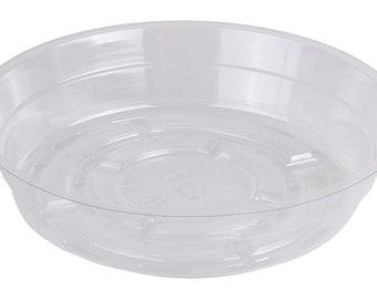 "6"" Plastic Plant Saucers, (Qty. 25), Clear Vinyl Pot and Plant Saucers"