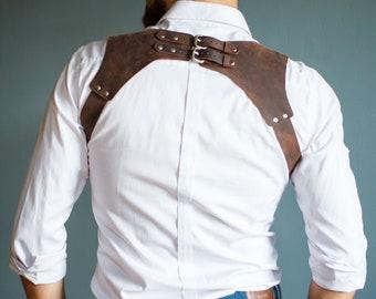 Leather Suspenders, Groomsmen Suspenders, Wedding Suspenders, gift for men, Men's leather suspenders