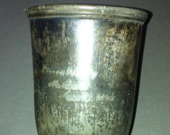 Civil war era goblet inscribed presented by  M. Burl march 22 1864 possisble civil war connection