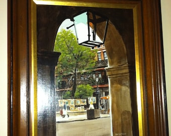 Paul delafille oil painting on board 21 by 17 inches with frame. Listed artist