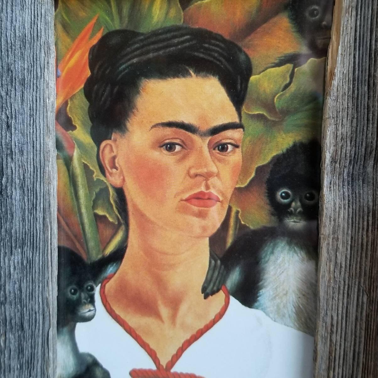 Self Portrait with Monkey, 1940 by Frida Kahlo