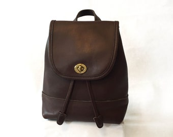 0907ed78c9e5f Coach Brown Mini Backpack Style 9960 Brass Hardware in excellent condition