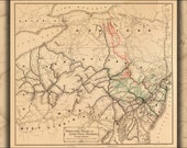 Poster, Many Sizes Available Map Pennsylvania Lehigh Valley Railroads 1884