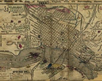 Judgmental Map of Richmond Virginia 18x24 print | Etsy