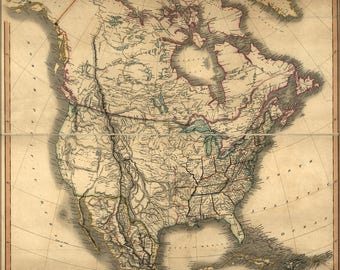 Poster, Many Sizes Available; Map Of North America 1849 Pre United States