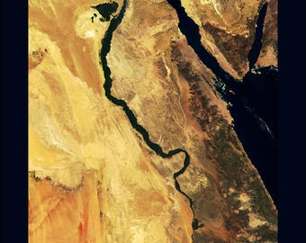 Poster, Many Sizes Available; Nile River Egypt Nile Sat