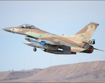 Poster, Many Sizes Available; Israeli Air Force F-16C Barak 110Th Squadron