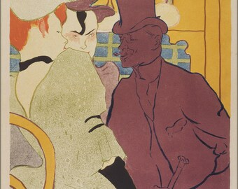 Poster, Many Sizes Available; Henri De Toulouse Lautrec, French Flirt An Englishman At The Moulin Rouge