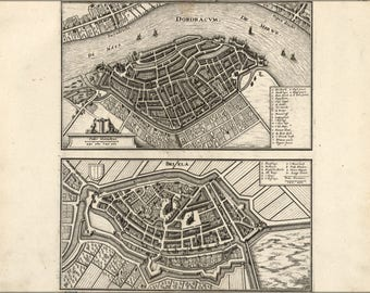Poster, Many Sizes Available; Map Of Dordrecht Netherlands 1646