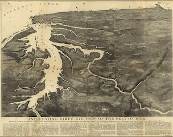 Poster, Many Sizes Available; Map Seat Of War Maryland Delaware Virginia 1861