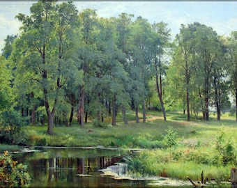 Poster, Many Sizes Available; In The Park By Ivan Shishkin